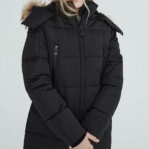 Noize women's vegan winter parka jacket coat addie